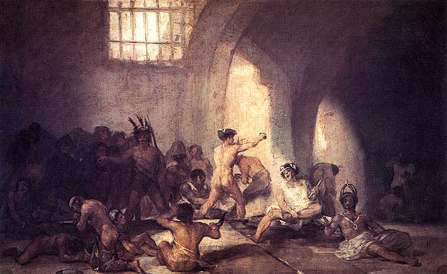 "Goya's ""Madhouse"" (1812-1819), PD at Wikimedia"