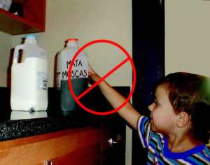 Child Reaching for Pesticide, from EPA